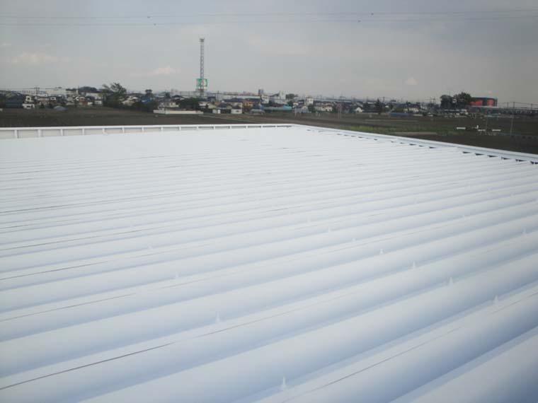工場の折半屋根塗装