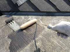 【屋根塗装】タスペーサー差し込み