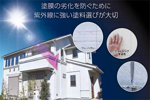 塗膜の劣化を防ぐために紫外線に強い塗料選びが大切