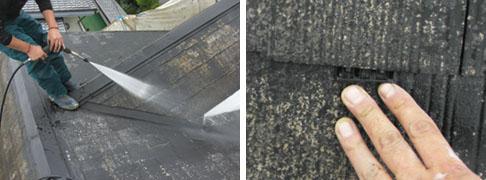 飯能市S様邸外壁塗装施工、高圧洗浄とタスペーサー挿入写真