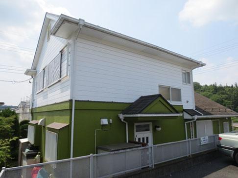 飯能市S様邸外壁屋根塗装施工前裏側