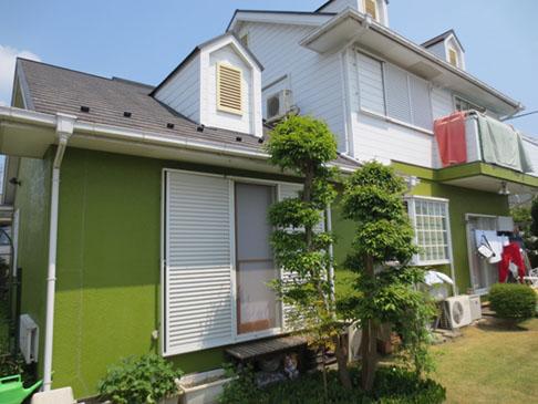 飯能市S様邸外壁屋根塗装施工前