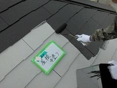 H28.5月草加市K様邸屋根塗装中塗り.jpg