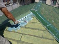 さいたま市、屋根塗装プライマー塗布
