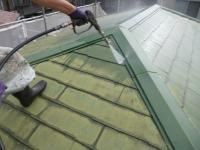 さいたま市、屋根洗浄中