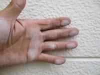 さいたま市、外壁塗装施工前チョーキング現象