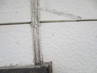 さいたま市、外壁塗装施工前目地ヒビ