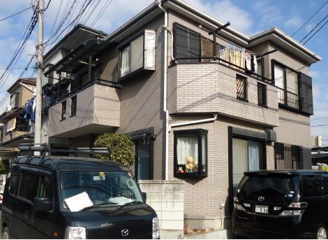 埼玉県志木市、外壁塗装・施工前