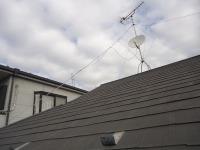 埼玉県志木市、屋根塗装施工前