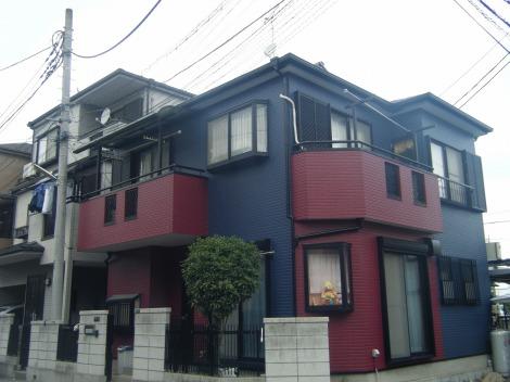 埼玉県志木市、外壁、屋根塗装施工後