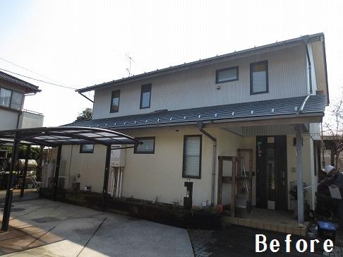 H28.10月ときがわ町Y様邸外壁塗装・屋根塗装施工前