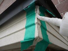 H28.12月入間市O様邸付帯塗装破風つなぎ目補修中