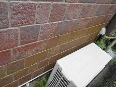 H28.12月入間市O様邸外壁屋根塗装施工前外壁コケ