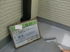H29.1月川越市Y様邸ベランダ防水トップコート