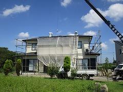 H29.1月川越市Y様邸屋根ガルバリウム鋼板荷揚げ②