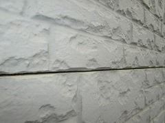 H29.1月Y様邸外壁塗装施工前外壁横目地隙間