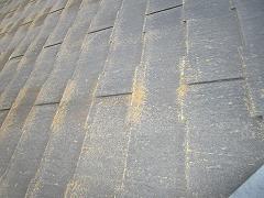 H29.1月Y様邸外壁塗装施工前屋根コケ