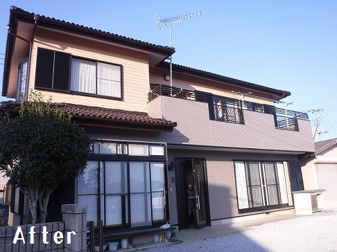 H29.2月東松山市吉岡様邸外壁塗装 施工後