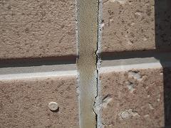 H29.2月幸手市N様邸外壁塗装・屋根塗装施工前外壁目地剥離.jpg