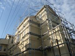 H29.3月戸田市A様邸外壁塗装足場架設