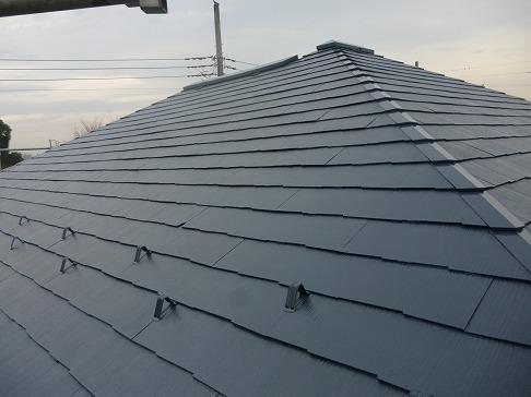 H29.4月坂戸市O様邸外壁・屋根塗装施工後屋根