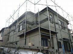 H29.4月坂戸市O様邸外壁・屋根塗装足場架設