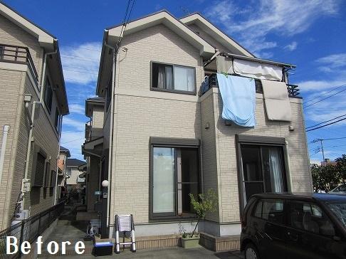 H29.4月草加市守岡様邸外壁・屋根塗装施工前.jpg
