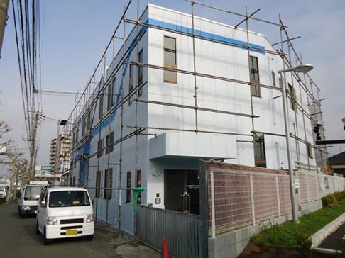 工場折半屋根、屋上防水、外壁塗装完成