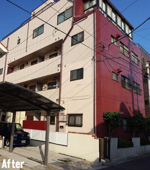 川口市でマンション外壁塗装と屋上防水施工 H様