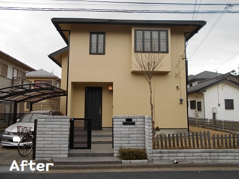 「茨城県守谷市H様 お姉さまからのご紹介 外壁:エコシリカ 屋根:ハイパーユメロック」サムネイル