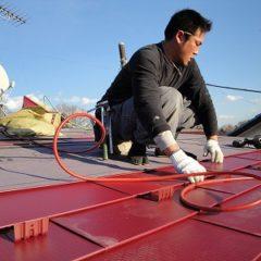 「さいたま市 屋根:ガルバニウム屋根、葺替え。」サムネイル