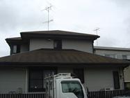 「比企郡川島町杉山様邸 屋根塗装:ファインシリコンベストクール。」サムネイル