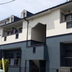 「埼玉県戸田市 草壁様 アパートの外壁・屋根をサンフロンUVで二度目の塗替え。カラーシミュレーションによる色決めで理想の外観に大変身!」サムネイル