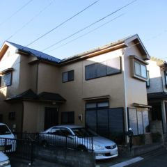 「鶴ヶ島市T様邸 外壁塗装:ハイパーユメロック、屋根塗装:サンフロンUV。」サムネイル